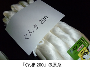 「ぐんま200」の原糸